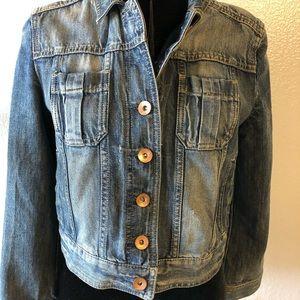 Express distressed jean jacket